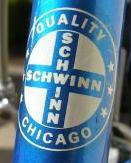 Schwinn logo on 1978 Varsity