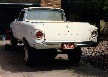 Customized 1962 Ranchero parked in driveway