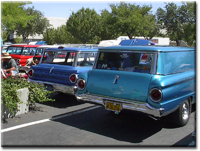 a sedan delivery and some station wagons