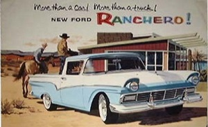 cover of brochure for 1957 Ford Ranchero