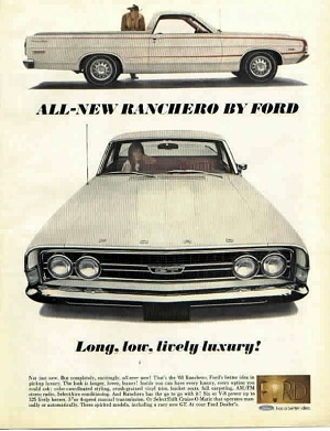 1968 Ranchero ad emphasizing luxury