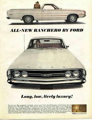 1968 Ranchero ad emphasizing luxury