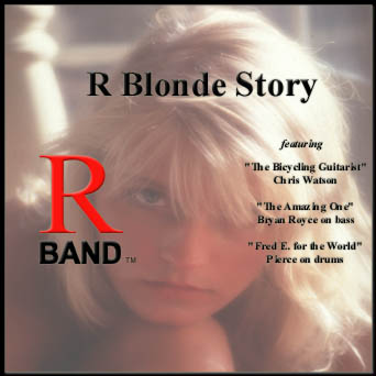 Album cover photograph of R Blonde Story: the face and hair of a foxy blonde