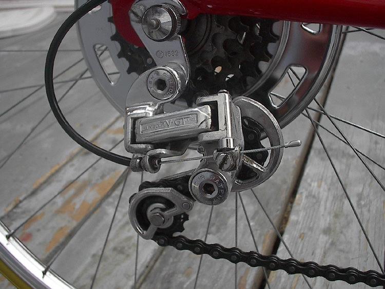 Schwinn Derailleur Parts : Nos parts installed on the minstrel cycle