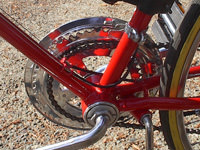 chain side of front sprocket