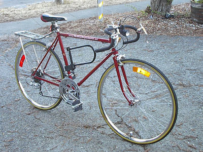 right front view of the bicycle