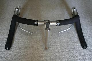 Top view of handlebar and stem