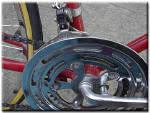 front derailleur, chainguard and part of pedal crank